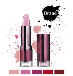 Lipstick cosmetics watercolor product vector