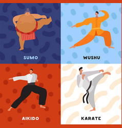 martial arts flat design concept vector image