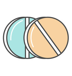 medical pill linear icon vector image