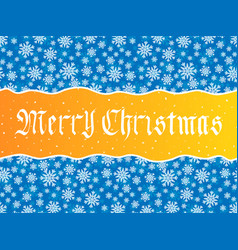 merry christmas lettering over blue vector image