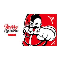 Merry x-mas santa claus card 2018 vector