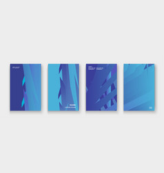 minimal cover collection design colorful blue vector image