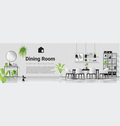 modern dining room in scandinavian style vector image