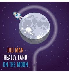 Moon Flat Design Concept vector image