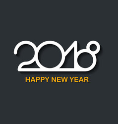 new 2018 year greeting card made in line style on vector image