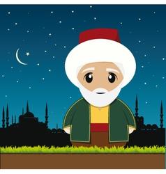 old muslim man vector image