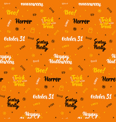 Orange halloween seamless pattern vector