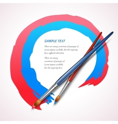 Paint brush background vector image