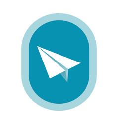 paper plane symbol vector image