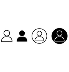 people icon set user icon vector image