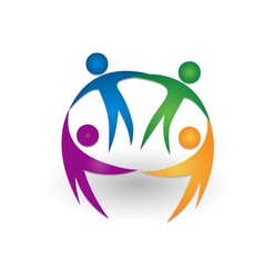 People together teamwork logo vector image vector image