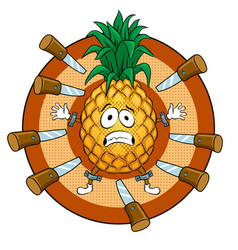 pineapple target pop art vector image