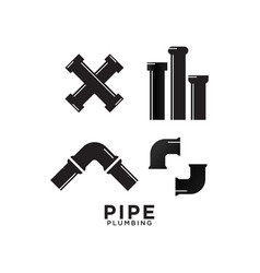 pipe plumbing graphic design template vector image