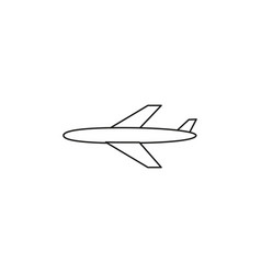 plane linear icon vector image