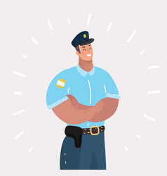 police officer standing front side vector image