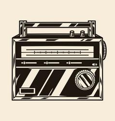 Portable classic retro radio concept vector