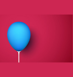 red background with blue realistic 3d balloon vector image