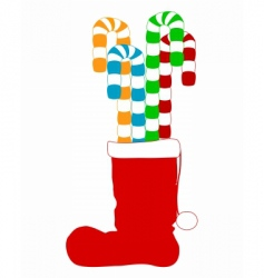 Santa claus boot vector
