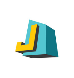 sign of the letter j vector image
