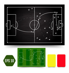 soccer game tactical scheme football players vector image