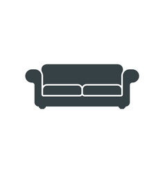 Sofa silhouette icon isolated on white background vector