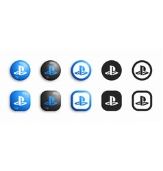 sony playstation video game console modern 3d and vector image