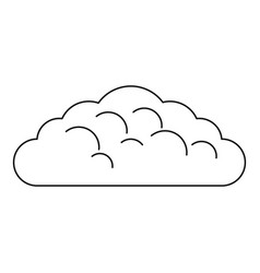 Spring cloud icon outline style vector