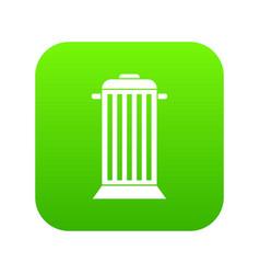street trash icon digital green vector image