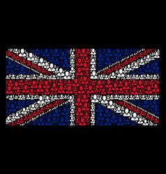 united kingdom flag mosaic of businessman items vector image