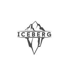 vintage retro floating iceberg logo design vector image