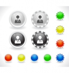 website menu buttons vector image