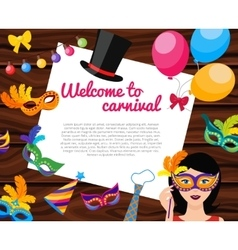 welcome to carnival composition vector image