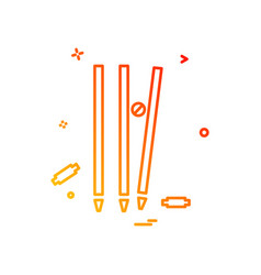 wicket cricket out bowled icon design vector image