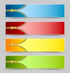 Zipper banners vector image