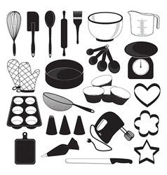 Baking Tool Icons Set vector image