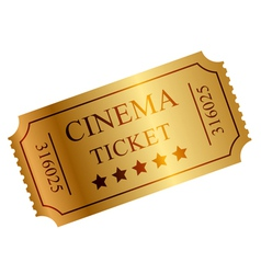 gold ticket vector image vector image