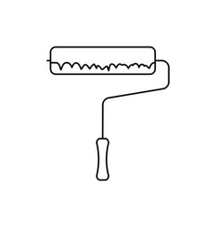 paint roller icon vector image