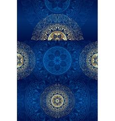 Set of blue vintage floral backgrounds vector image vector image