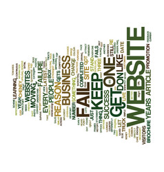 the number one reason most websites fail text vector image vector image