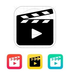 Clapper board open icon vector image
