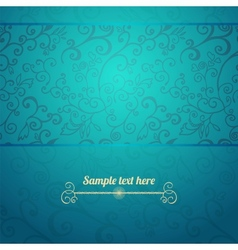 Excellent seamless floral pattern blue background vector image