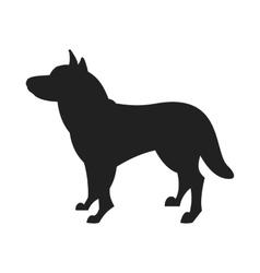 Husky dog black silhouette vector