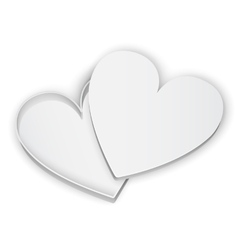 Opened Heart Gift Box vector image vector image