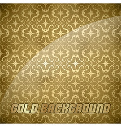 ornaments background gold vector image