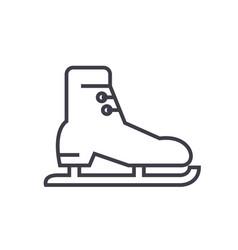 skates racing flat line concept vector image