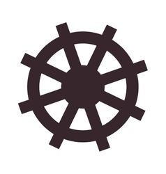 boat rudder icon vector image