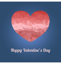 Happy Valentines Day greeting card with heart and vector image