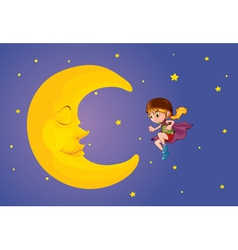 moon kid vector image