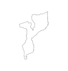 mozambique map silhouette vector image vector image