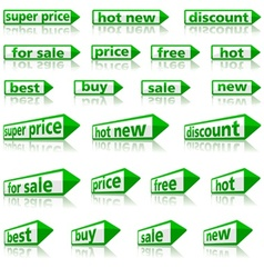 Retail Arrow Labels vector image vector image